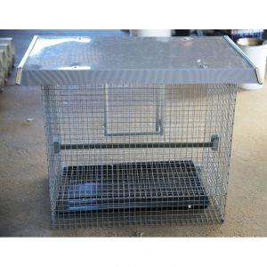 Back of chicken cage