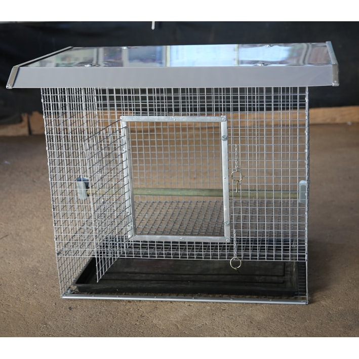 Front of chicken cage