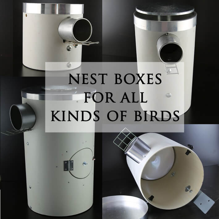 PVC bird nest boxes